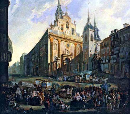 La Puerta del Sol en Madrid, 1773 - Luis Paret y Alcazar