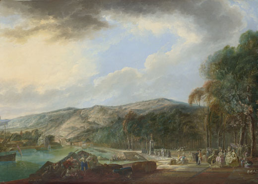 View of El Arenal de Bilbao, 1784 - Луис Парет-и-Алькасар