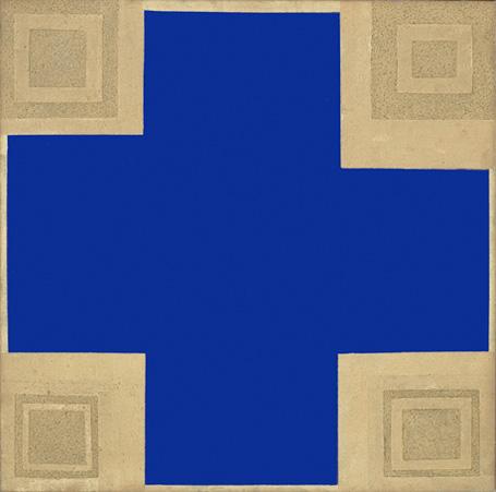 Painting - Gold and Blue (Sertão Carioca), 1983 - Lygia Pape