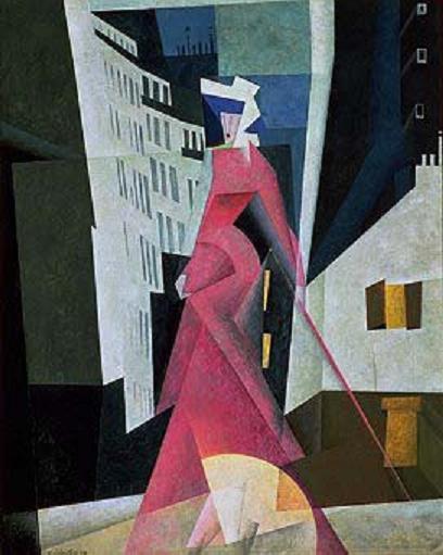 Lady in Mauve, 1922 - Lyonel Feininger