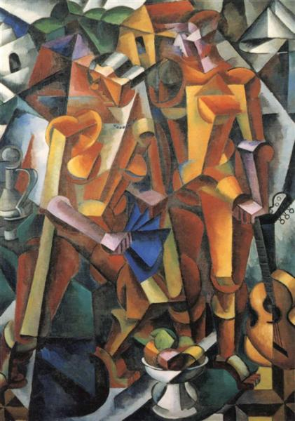 Composition with Figures, 1914 - 1915 - Lyubov Popova