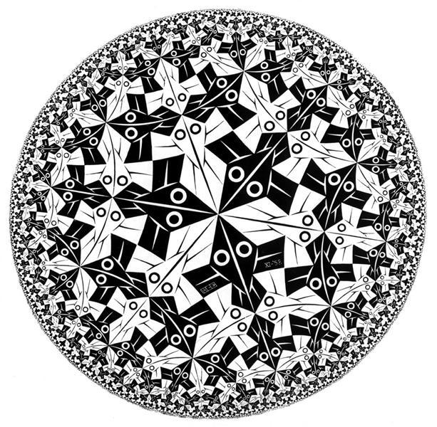 Межа круга I, 1958 - Мауріц Корнеліс Ешер