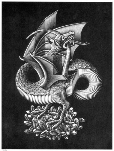Dragon - M.C. Escher