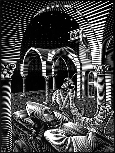 Dream, 1935 - M.C. Escher