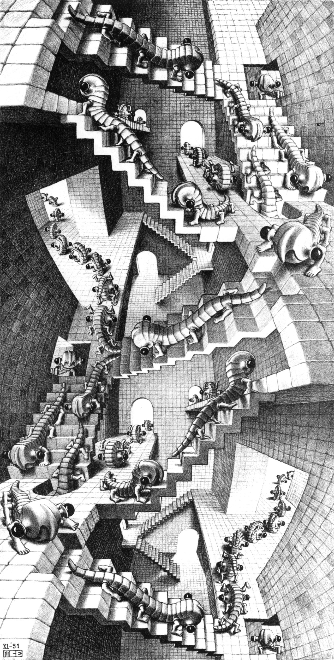 M. C. Escher (1898-1972) 'House of Stairs', 1951