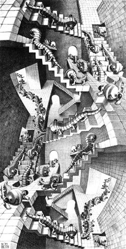 House of Stairs - M.C. Escher