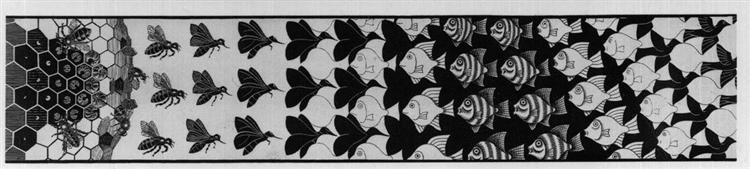 Metamorphosis III excerpt 3, 1967 - 1968 - M. C. Escher