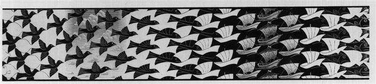 Metamorphosis III excerpt 4, 1967 - 1968 - Maurits Cornelis Escher