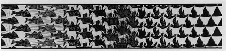 Metamorphosis III excerpt 5, 1967 - 1968 - M.C. Escher