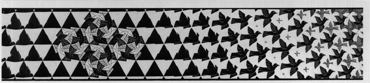 Metamorphosis III excerpt 6, 1967 - 1968 - M.C. Escher