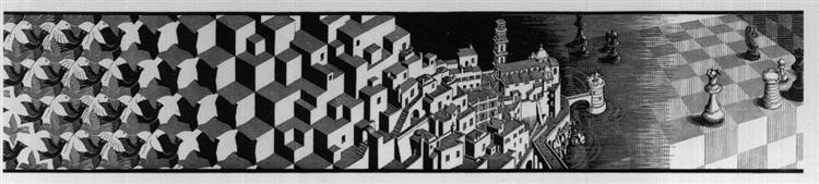 Metamorphosis III excerpt 7, 1967 - 1968 - M.C. Escher