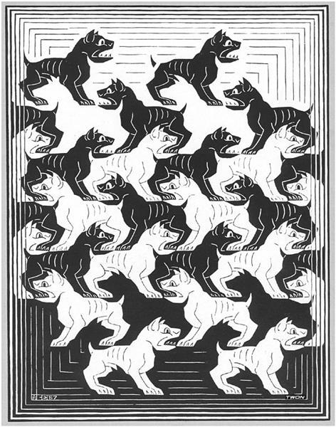 Regular Division of The Plane IV, 1957 - M.C. Escher