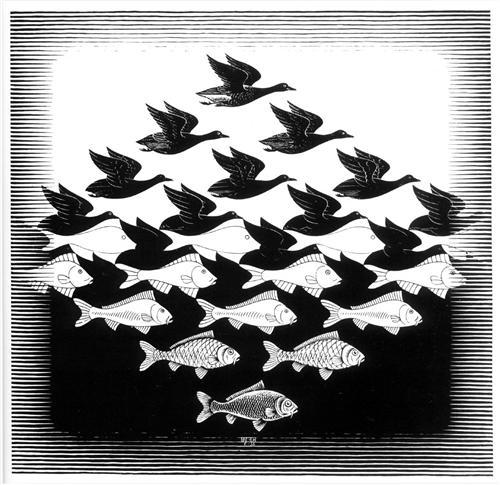 Sky and Water I - M.C. Escher