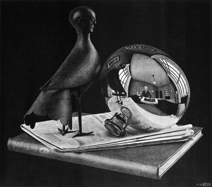 Still Life with Spherical Mirror, 1934 - M.C. Escher