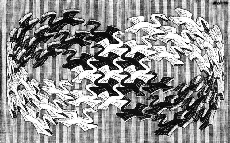 Swans, 1956 - M.C. Escher