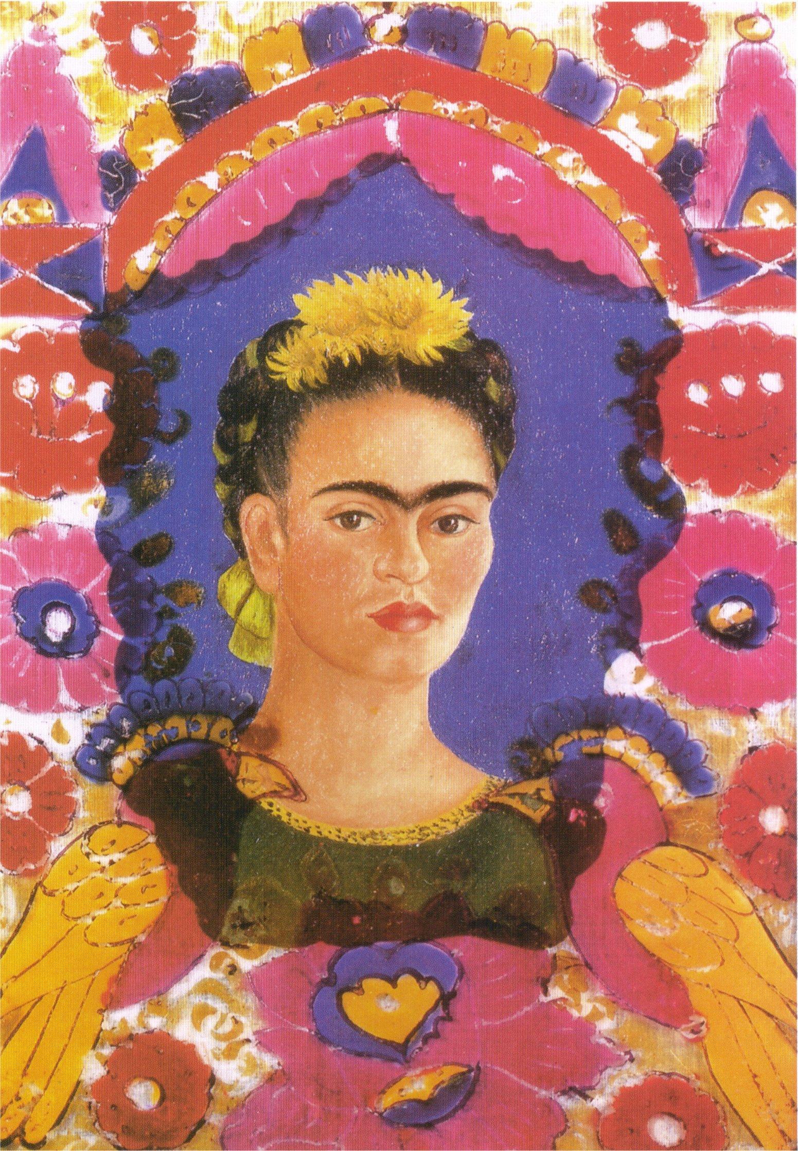 Resultado de imagen de autorretrato el marco de frida kahlo