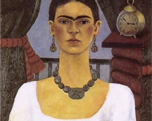 Self Portrait - Time Flies - Frida Kahlo