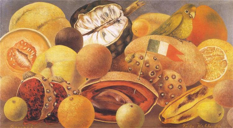 Still Life with Parrot and Flag, 1951 - Frida Kahlo