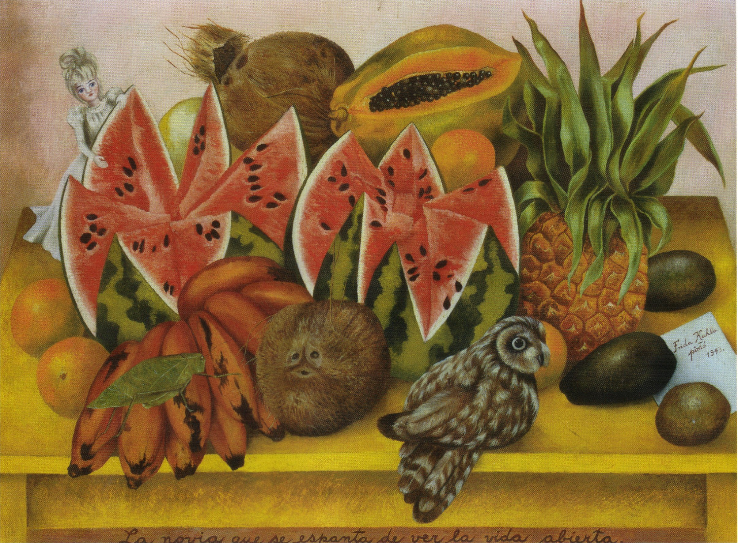 The Bride Frightened at Seeing Life Opened Prev NextFrida Kahlo Famous Paintings Still Life
