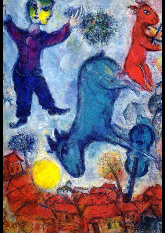 cows over vitebsk 1966 marc chagall. Black Bedroom Furniture Sets. Home Design Ideas