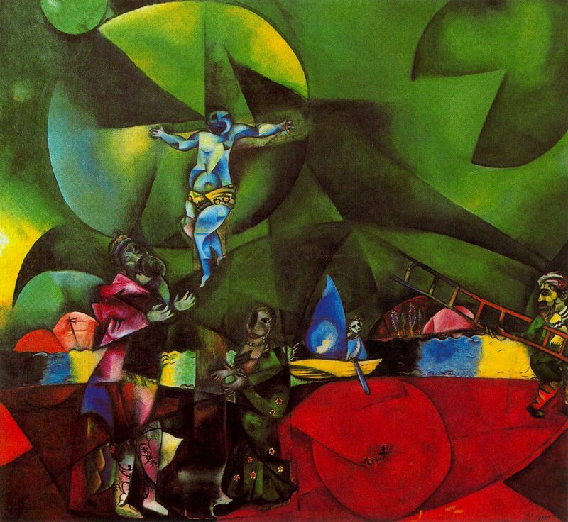 Golgotha, 1912 - Marc Chagall - WikiArt.org Chagall Crucifixion Paintings
