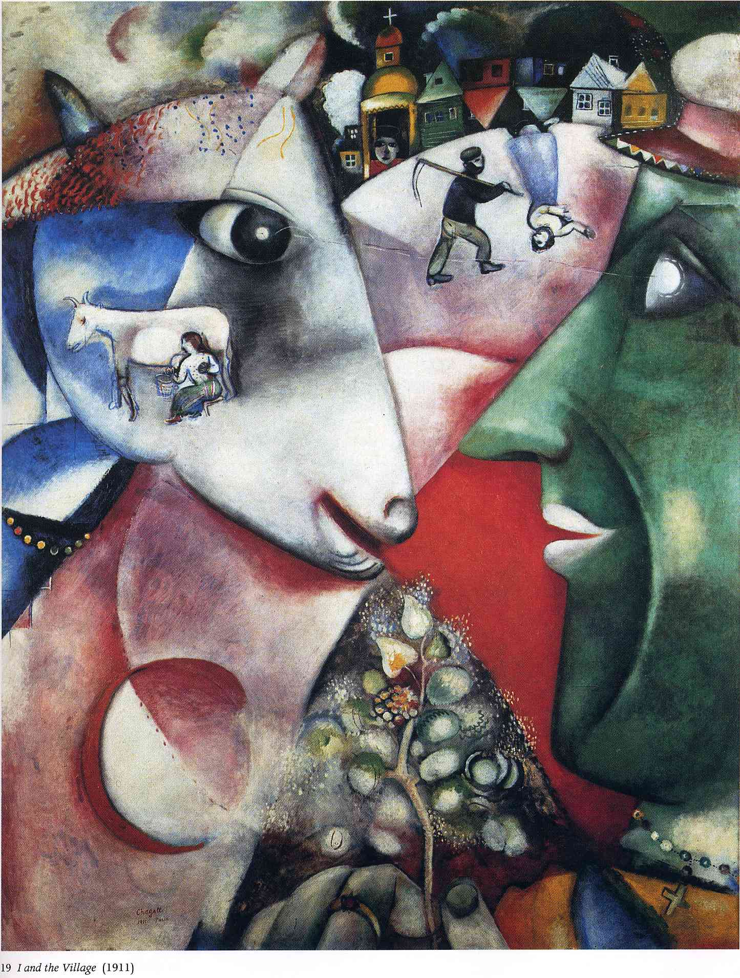 I and the Village, 1911 - Marc Chagall - WikiArt.org