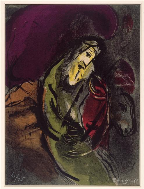Jeremiah, 1956 - Marc Chagall - WikiArt.org Chagall Gouaches Jeremia