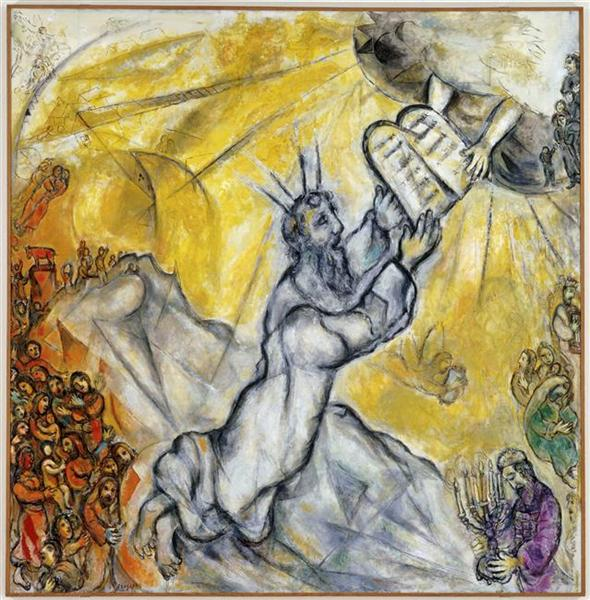 Moses receiving the Tablets of Law, 1966 - Marc Chagall