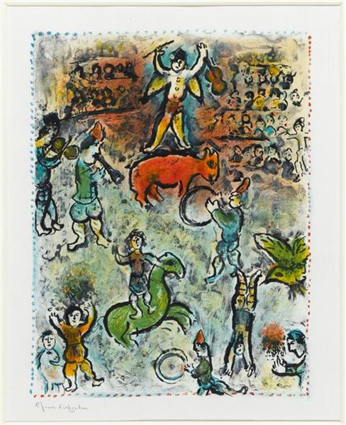 Parade in circus, 1980 - Marc Chagall