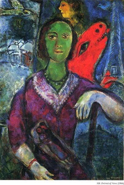 Portrait of Vava, 1966 - Marc Chagall