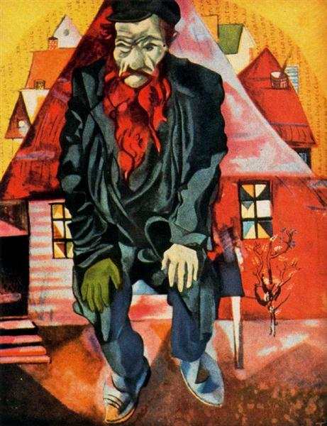 Red Jew, 1915 - Marc Chagall
