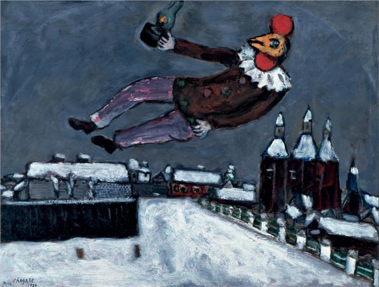 Rooster Man Above Vitebsk, 1925 - Marc Chagall