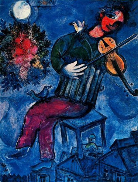 The blue fiddler, 1947 - Marc Chagall