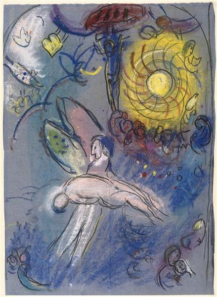 The Creation of Man, c.1958 - Marc Chagall