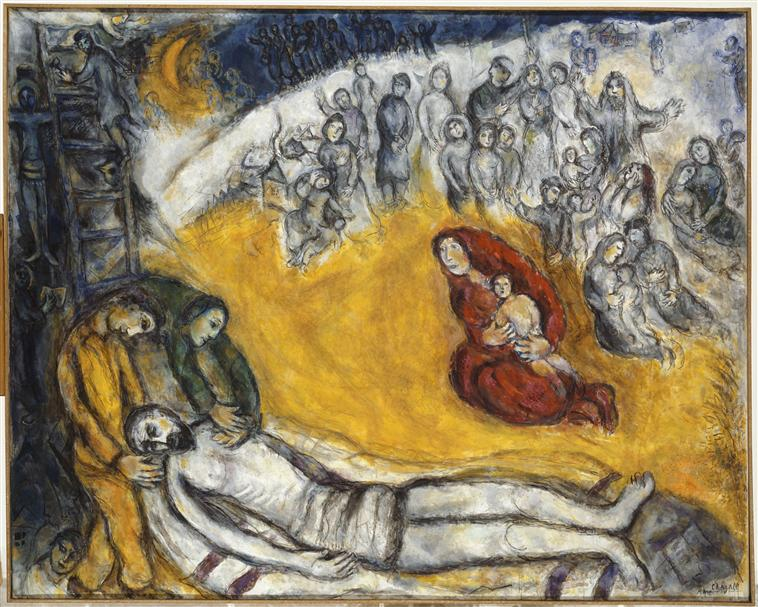 Marc Chagall's 'Descent From the Cross' (1968-76) Chagall Crucifixion