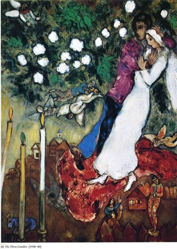 The Three Candles - Marc Chagall