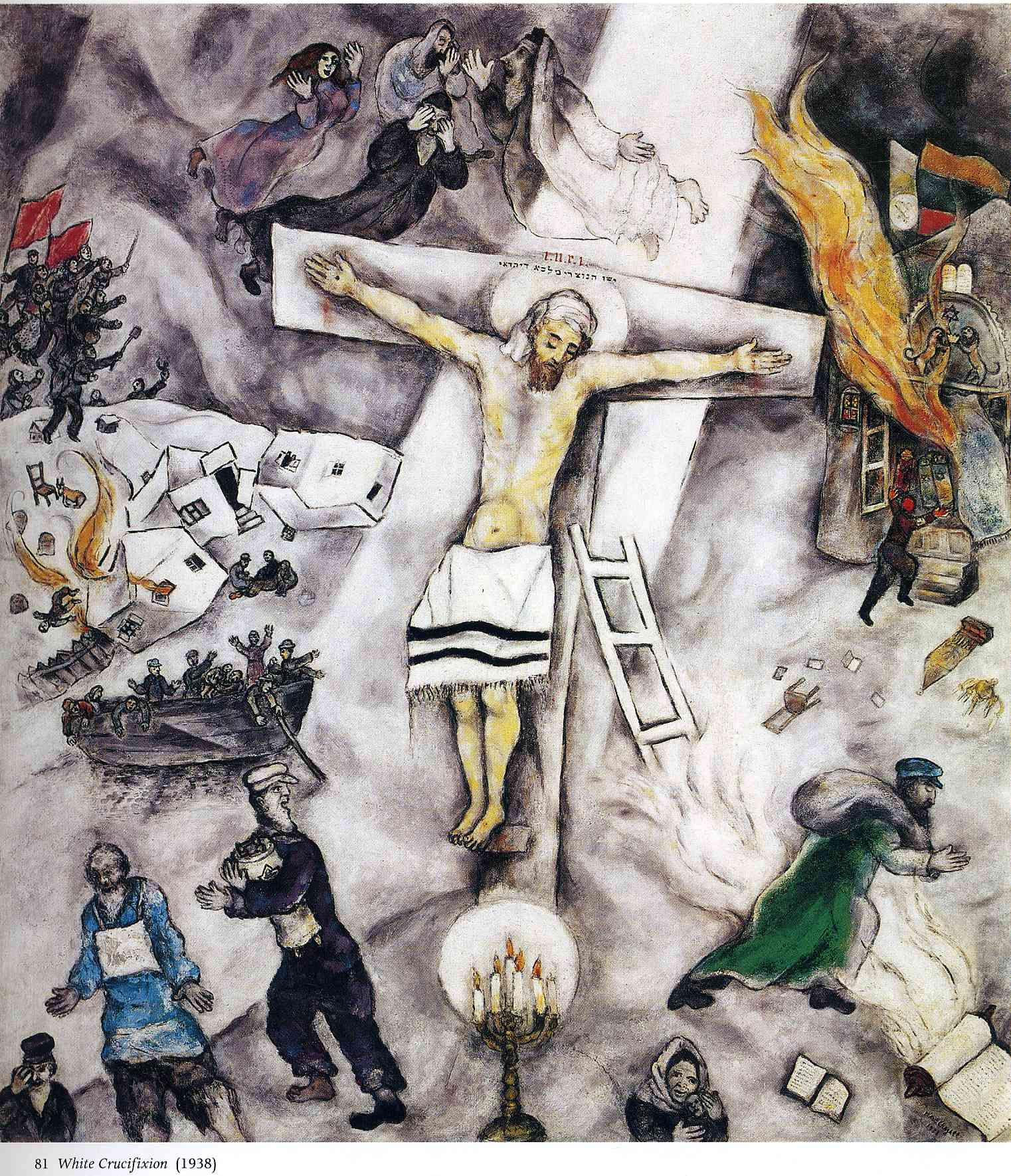 Image result for the white crucifixion chagall