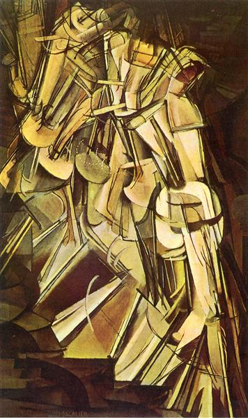 Nu descendant un escalier, 1912 - Marcel Duchamp