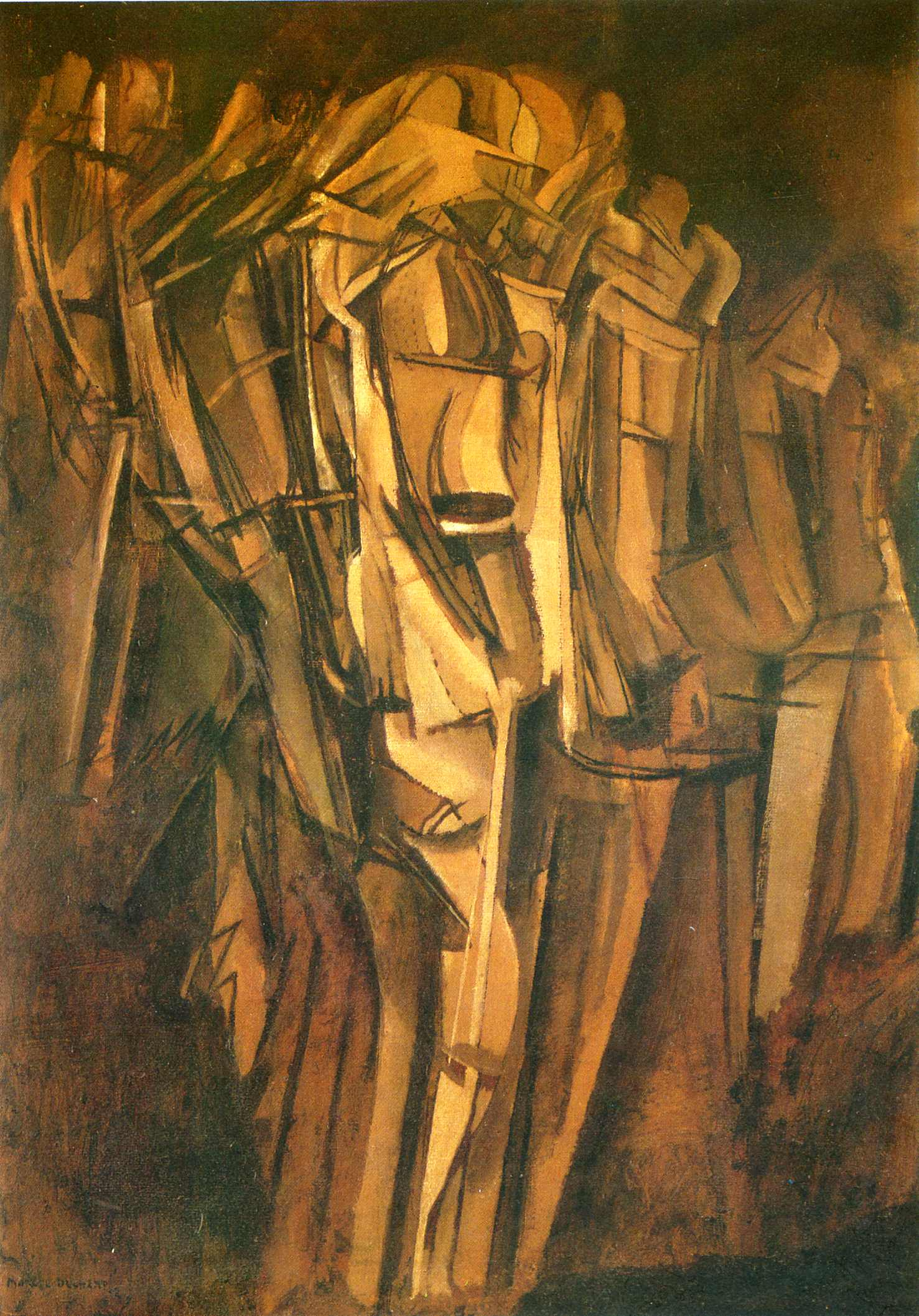 nude descending stairs Title: marcel duchamp descends staircase  duchamp's most significant works is  his early painting of 1912 entitled nude descending a staircase, in which he.