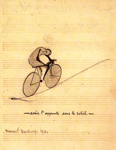 To Have the Apprentice in the Sun, 1914 - Marcel Duchamp