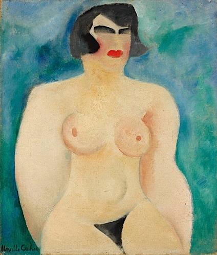 Nu sur fond bleu, 1924 - Marcelle Cahn