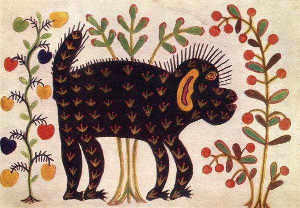 Black Monkey, 1936 - Maria Primachenko