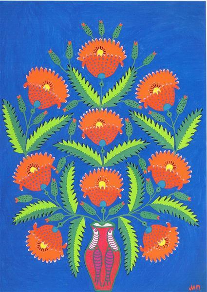 Red Poppies, 1982 - Maria Primachenko