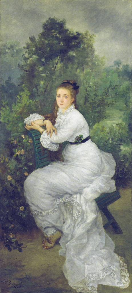 Louise Quivoron aka Woman in the garden, 1877