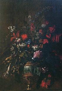Natura morta di fiori in un vaso - Марио Де Фьори