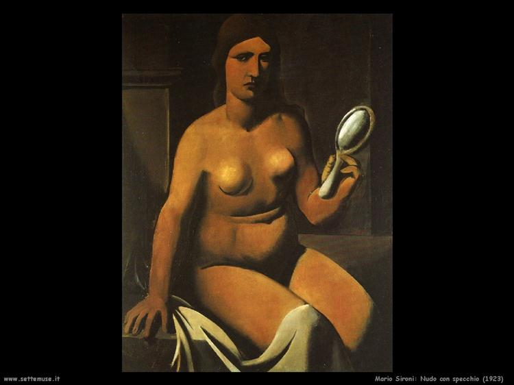 Nude with mirror, 1923 - Mario Sironi