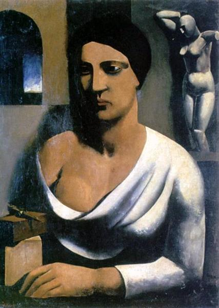 The model of the sculptor, 1923 - 1924 - Mario Sironi