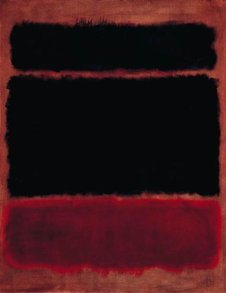Black in Deep Red, 1957 - Mark Rothko