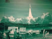 Action Painting II - Mark Tansey