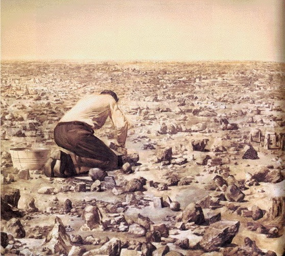 Robbe-Grillet Cleansing Every Object in Sight, 1981 - Mark Tansey